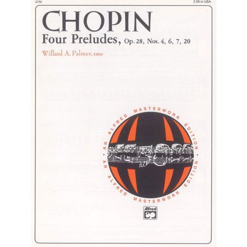 ALFRED PUBLISHING CHOPIN FREDERIC - FOUR PRELUDES - PIANO SOLO