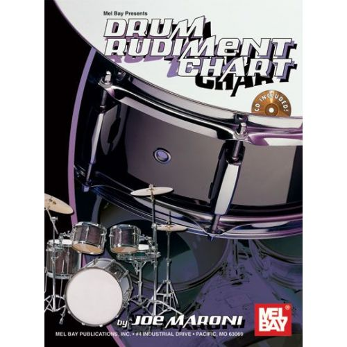 MEL BAY MARONI JOE - DRUM RUDIMENT CHART + CD - DRUM