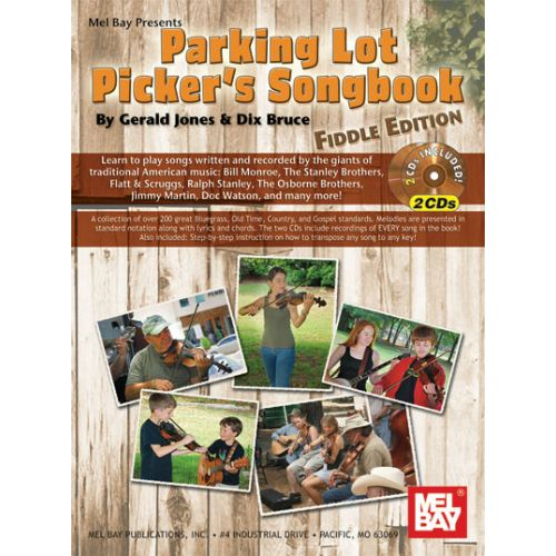 MEL BAY BRUCE DIX - PARKING LOT PICKER'S SONGBOOK + CD - FIDDLE EDITION - VIOLIN