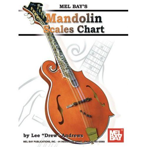 MEL BAY DREW ANDREWS LEE - MANDOLIN SCALES CHART - MANDOLIN
