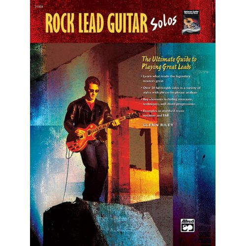 ALFRED PUBLISHING RILEY GLENN - ROCK LEAD GUITAR SOLOS + CD - GUITAR