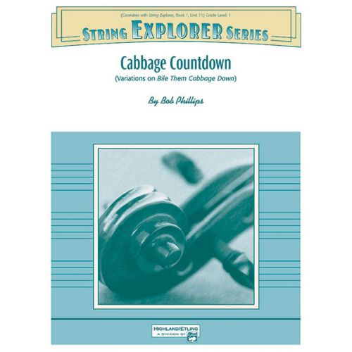ALFRED PUBLISHING PHILLIPS BOB - CABBAGE COUNTDOWN - STRING ORCHESTRA