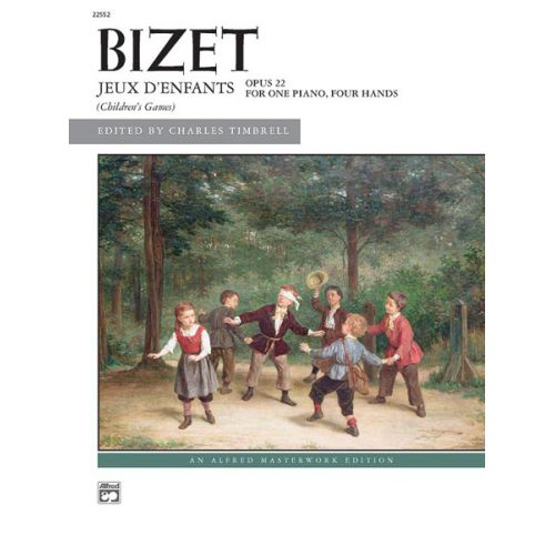 ALFRED PUBLISHING BIZET GEORGES - JEUX D'ENFANTS - PIANO DUET