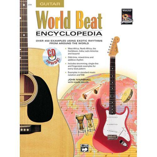 ALFRED PUBLISHING MARSHALL JOHN - WORLD BEAT ENCYCLOPEDIA + CD - GUITAR