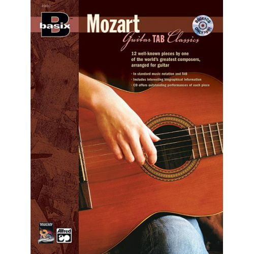 ALFRED PUBLISHING BASIX MOZART FOR GUITAR + CD - GUITAR