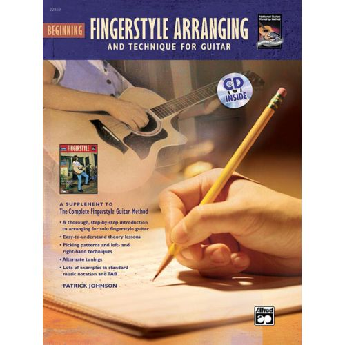 ALFRED PUBLISHING JOHNSON PATRICK - BEGINNING FINGERSTYLE ARRANGING + CD - GUITAR