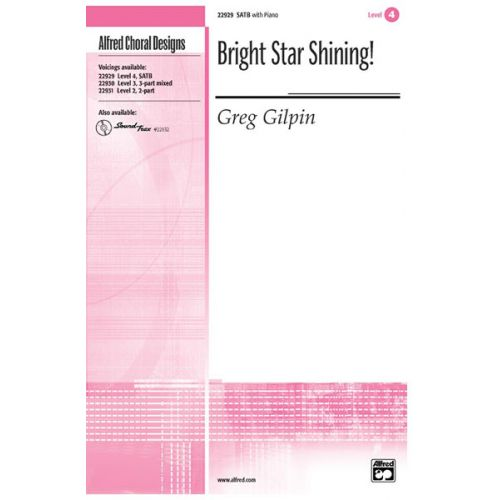 ALFRED PUBLISHING GILPIN GREG - BRIGHT STAR SHINING! - MIXED VOICES