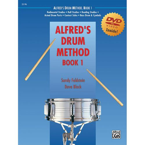 ALFRED PUBLISHING FELDSTEIN AND BLACK - ALFRED'S DRUM METHOD BOOK 1 + DVD - PERCUSSION