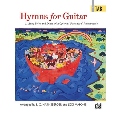 ALFRED PUBLISHING HARNSBERGER AND MALONE - HYMNS FOR GUITAR - GUITAR TAB