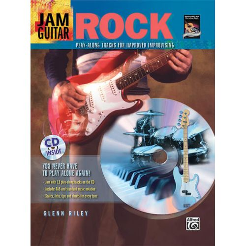 ALFRED PUBLISHING RILEY GLENN - JAM GUITAR - ROCK + CD - GUITAR