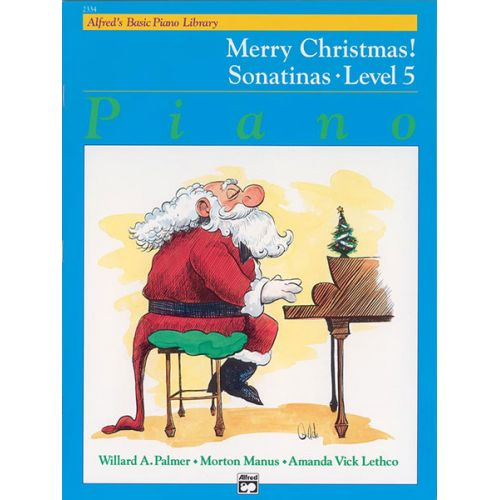 ALFRED PUBLISHING MERRY CHRISTMAS 5-SONATINAS - PIANO SOLO