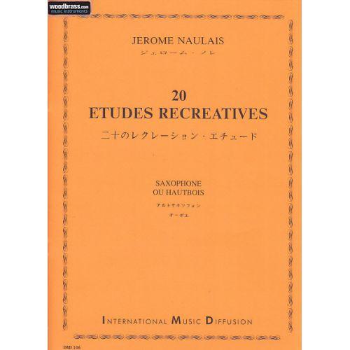 IMD ARPEGES NAULAIS JEROME - 20 ETUDES RECREATIVES - SAXOPHONE