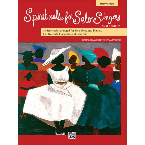 ALFRED PUBLISHING - SPIRITUALS SOLO SINGERS VOL2 + CD - MEDIUM AND HIGH VOICE