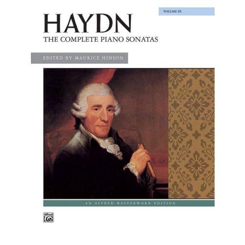 ALFRED PUBLISHING HAYDN FRANZ JOSEPH - COMPLETE PIANO SONATAS VOLUME 3 - PIANO