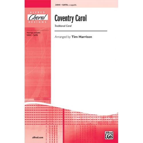 ALFRED PUBLISHING HARRISON - COVENTRY CAROL - MIXED VOICES