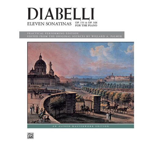 ALFRED PUBLISHING DIABELLI ANTON - ELEVEN SONATINAS OP 151 AND OP 168 - PIANO