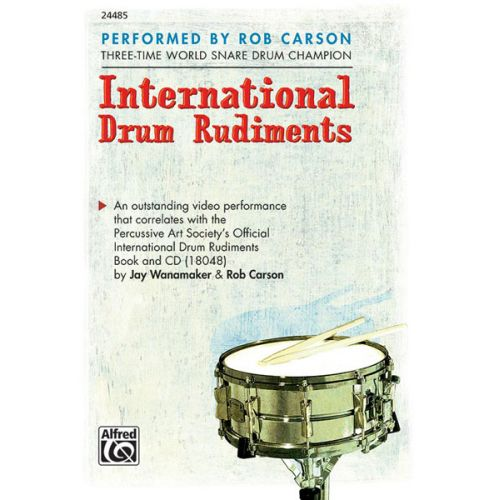 ALFRED PUBLISHING WANAMAKER JAY - INTERNATIONAL DRUM RUDIMENTS + DVD - DRUM