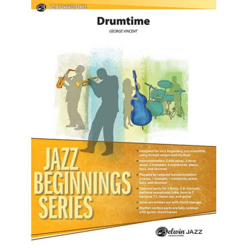 ALFRED PUBLISHING VINCENT GEORGE - DRUMTIME - JAZZ BAND