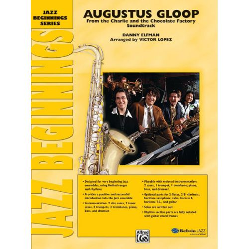 ALFRED PUBLISHING ELFMAN DANNY - AUGUSTUS GLOOP - JAZZ BAND