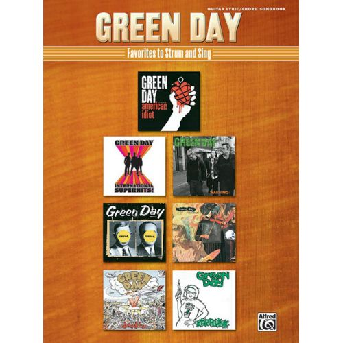 ALFRED PUBLISHING GREEN DAY - FAVOURITES TO STRUM TO - GUITAR TAB
