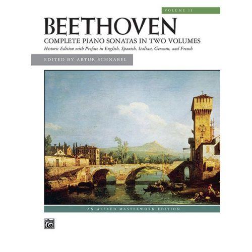 ALFRED PUBLISHING BEETHOVEN LUDWIG VAN - COMPLETE PIANO SONATAS VOLUME 2 - PIANO SOLO