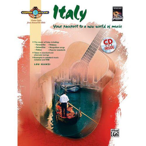 ALFRED PUBLISHING MANZI LOU - GUITAR ATLAS - ITALY + CD - GUITAR SOLO
