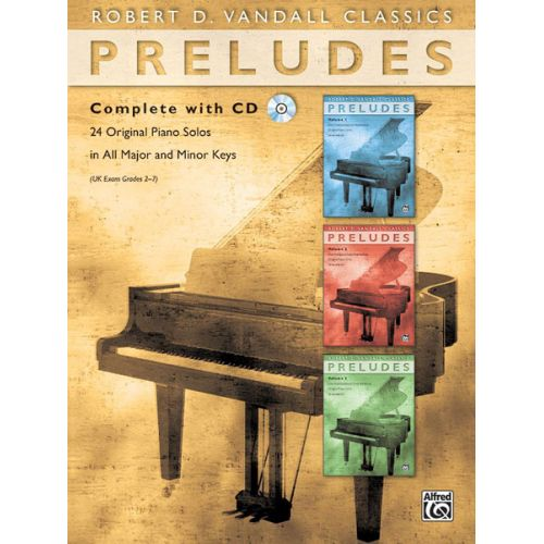 ALFRED PUBLISHING VANDALL ROBERT D. - PRELUDES COMPLETE + CD - PIANO SOLO