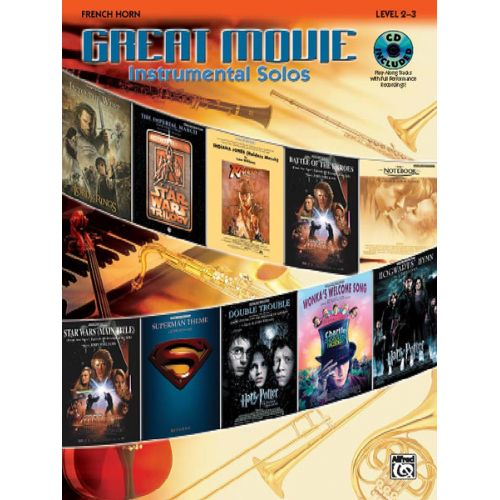 ALFRED PUBLISHING GREAT MOVIE INSTRUMENTAL SOLOS + CD - FRENCH HORN SOLO