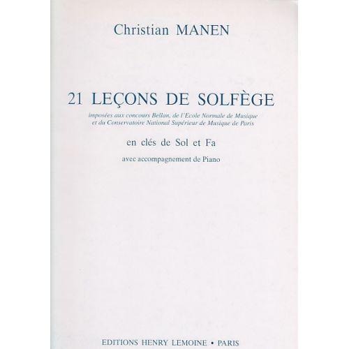 LEMOINE MANEN CHRISTIAN - LEÇONS 2 CLÉS (21) AVEC ACCOMPAGNEMENT