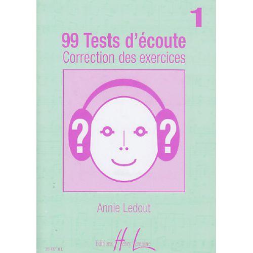 LEMOINE LEDOUT ANNIE - 99 TESTS D'ECOUTE VOL.1 CORRIGES