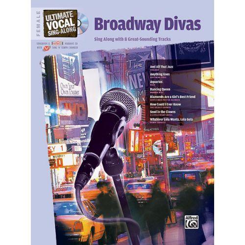 ALFRED PUBLISHING BROADWAY DIVAS + CD - VOICE