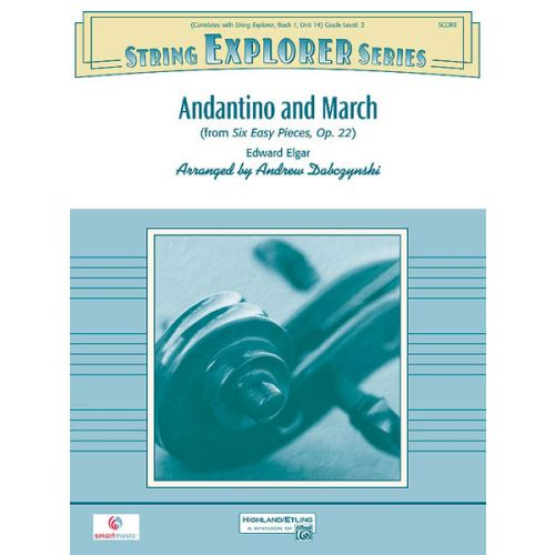 ALFRED PUBLISHING ELGAR EDWARD - ANDANTINO AND MARCH - STRING ORCHESTRA