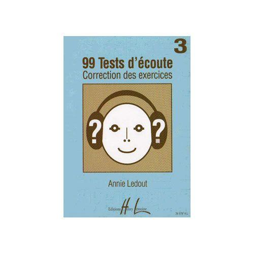 LEMOINE LEDOUT ANNIE - 99 TESTS D'ECOUTE VOL.3 CORRIGES