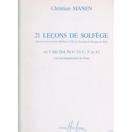 LEMOINE MANEN CHRISTIAN - LEÇONS 5 CLÉS (21) AVEC ACCOMPAGNEMENT