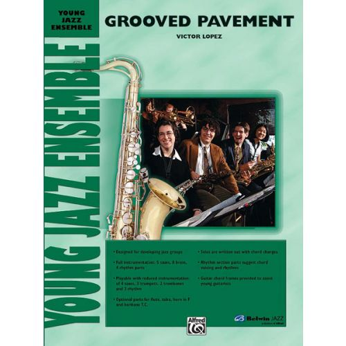ALFRED PUBLISHING LOPEZ VICTOR - GROOVED PAVEMENT - JAZZ BAND