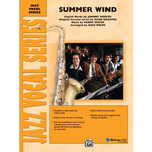 ALFRED PUBLISHING WOLPE DAVE - SUMMER WIND - VOCAL JAZZ ENSEMBLE