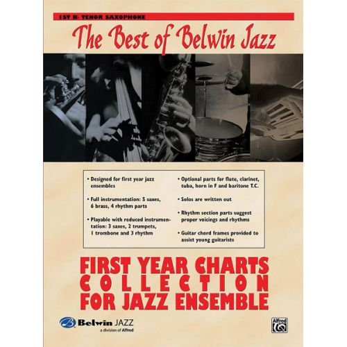 ALFRED PUBLISHING BEST OF BELWIN: FIRST YEAR CHARTS - TENOR SAXOPHONE 1