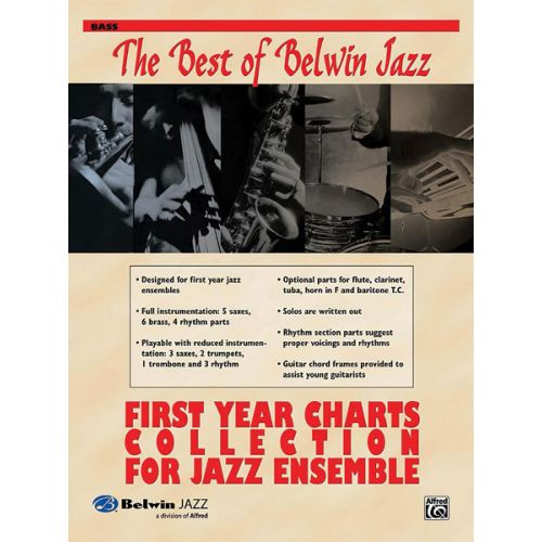 ALFRED PUBLISHING BEST OF BELWIN: FIRST YEAR CHARTS - BASS