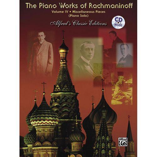 ALFRED PUBLISHING RACHMANINOV SERGEI - PIANO WORKS VOL IV - PIANO SOLO