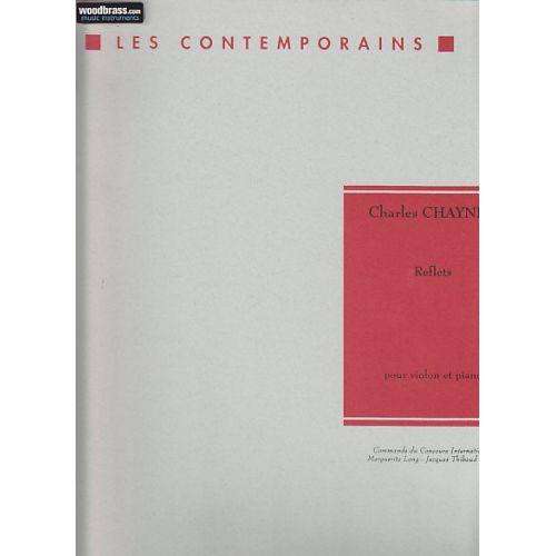 LEMOINE CHAYNES CHARLES - REFLETS - VIOLON, PIANO