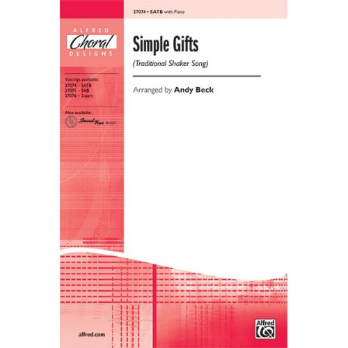ALFRED PUBLISHING BECK - SIMPLE GIFTS - MIXED VOICES SATB