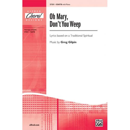 ALFRED PUBLISHING OH MARY, DON'T YOU WEEP SSATB - MIXED VOICES