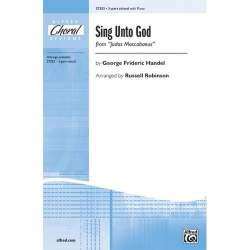ALFRED PUBLISHING SING UNTO GOD 3PT MXD - MIXED VOICES