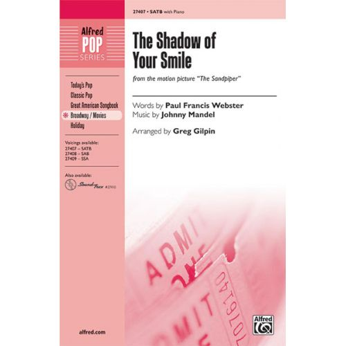 ALFRED PUBLISHING GILPIN GREG - SHADOW OF YOUR SMILE,THE - MIXED VOICES