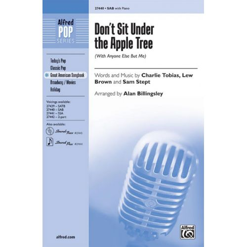 ALFRED PUBLISHING BILLINGSLEY ALAN - DON'T SIT UNDER THE APPLE TREE - MIXED VOICES