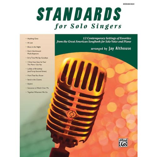 ALFRED PUBLISHING ALTHOUSE JAY - STANDARDS FOR SOLO SINGERS - MEDIUM AND HIGH VOICE