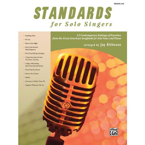 ALFRED PUBLISHING ALTHOUSE JAY - STANDARDS FOR SOLO SINGERS + CD - MEDIUM AND LOW VOICE