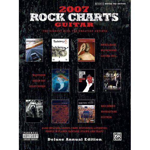 ALFRED PUBLISHING 2007 ROCK CHARTS GUITAR - GUITAR TAB