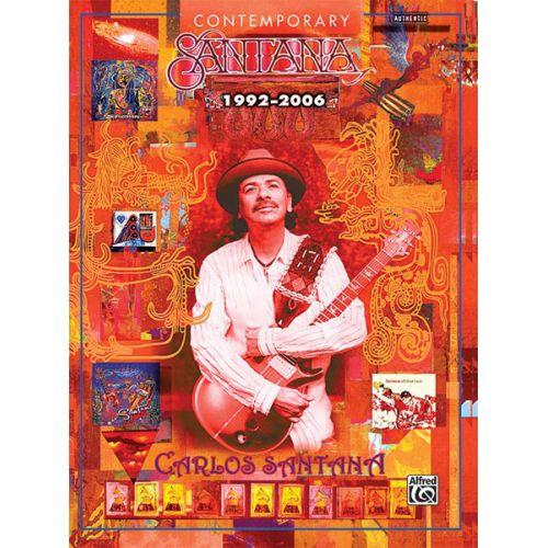 ALFRED PUBLISHING SANTANA CARLOS - CONTEMPORARY SANTANA 1992-2006 - GUITAR TAB