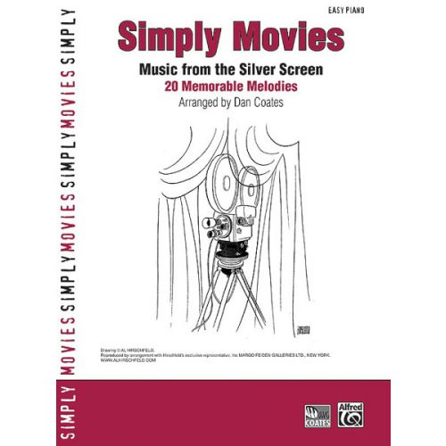ALFRED PUBLISHING COATES DAN - SIMPLY MOVIES - PIANO SOLO